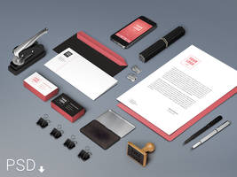 Branding / Identity Mock-Up (Free PSD) by GraphicBurger