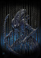 Alien in chains by phrenan