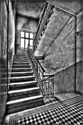 BW staircase by SergejE
