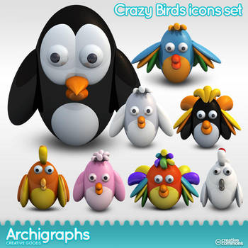 Archigraphs Crazy Birds by Cyberella74