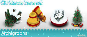 Archigraphs Christmas icon set by Cyberella74