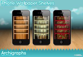 iPhone Wallpaper shelves by Cyberella74