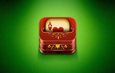 iOs Card Deck game icon by Cyberella74