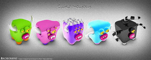 Cubed Monsters by Cyberella74