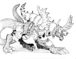 Armored Behemoth BW by avancna