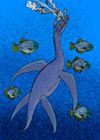 Plesiosaurus dolichodeirus by avancna