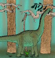Brachiosaurus altithorax by avancna
