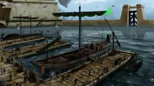 Vivec,Hlaalu Port(Concept Art) by RomanDubina