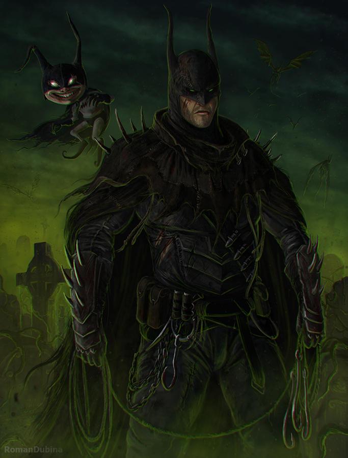 Grimdark Batman by RomanDubina