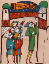 Les Clowns De Baye- Marmot-Art by childrensillustrator
