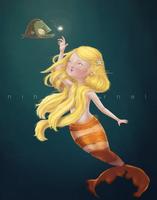 Mermaid- ninyanernel by childrensillustrator