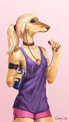 Afghan hound by Conqista