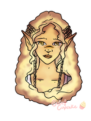Acaria - Bust Sticker by SaintTeacake