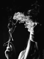 smoke figure by davenevodka