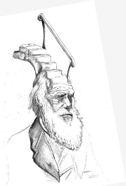 Darwin Took Steps drawing by GlendonMellow