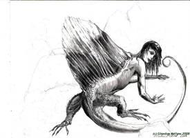 Dimetrodon-Sphinx-pencil by GlendonMellow