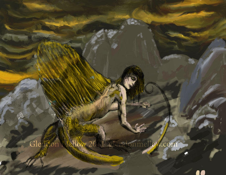 Dimetrodon Sphinx - wip by GlendonMellow