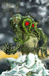 Trapping Man-Thing by GlendonMellow
