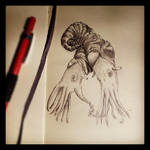 2-Headed Ammonite by GlendonMellow