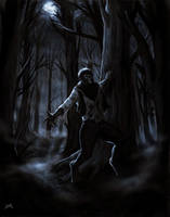 The Wolfman: speed painting by FrankCP