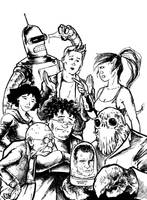 Futurama cast by crankyart
