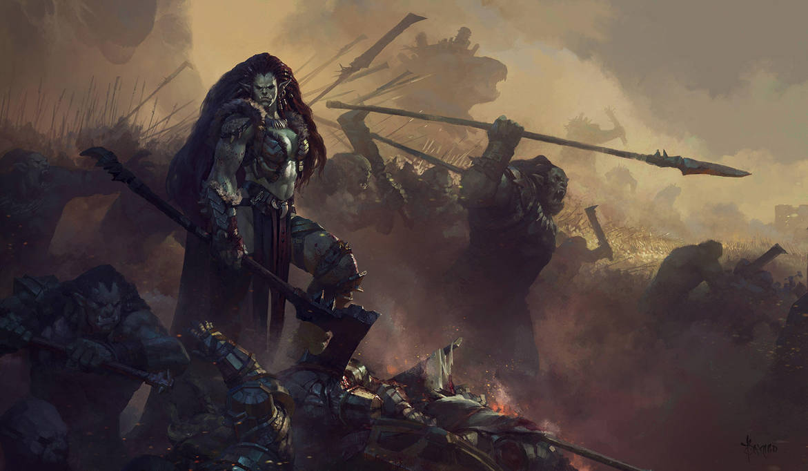 Image result for orc war female