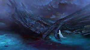 Fallen Dragon by bayardwu
