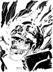 GHOST RIDER HEAD SKETCH by MattTriano