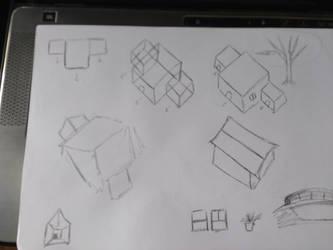Sketches de casas em perspectiva by MarcosTNH