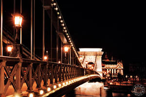 The Chain Bridge Budapest by karenbirch