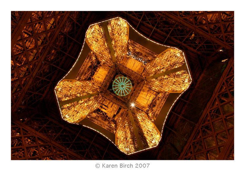 Up the Eiffel Tower's Bum by karenbirch