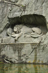 Lion of Lucerne by Somebody-Somewhere