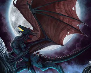 Angry Dark Dragon by BAFSLGAMING