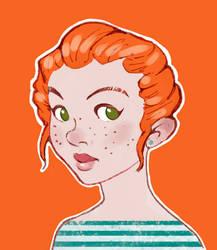 Random girl by Valanta