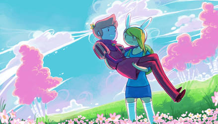 Prince Gumball + Fionna by Tuooneo