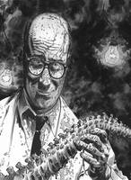 Doctor Spine DVD Cover BW by BillReinhold