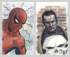Spider-man Punisher-sketches 2015 by BillReinhold