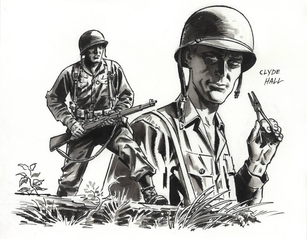 Clyde Hall sketch by BillReinhold