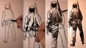 Flying Column Sketch 03 Process by BillReinhold