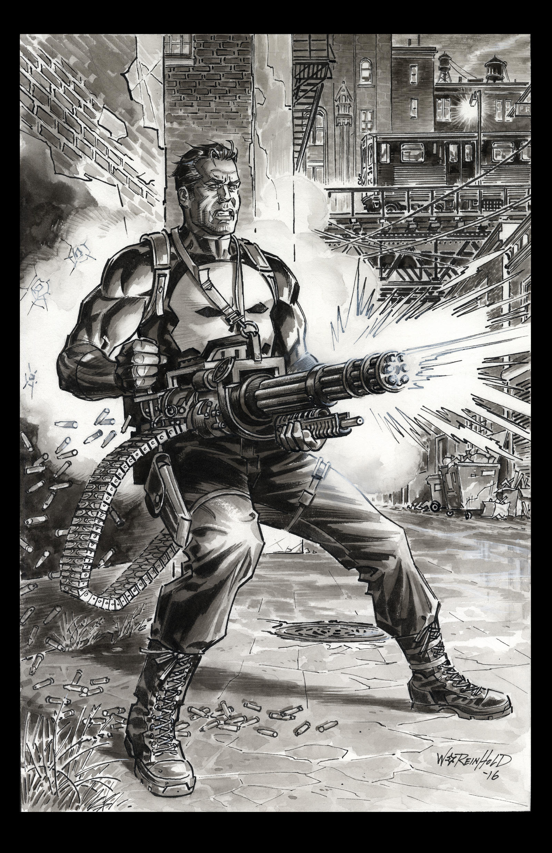 Punisher Gatling Gun 2016 by BillReinhold