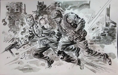 Sgt.Fury and Sgt. Rock-2017 by BillReinhold