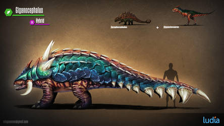 JW The Game Concept Art- Giganocephalus LVL40 by IndominusRex