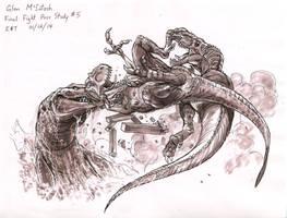 Jurassic World Concept Art - I. Rex death pose by IndominusRex