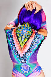 Bollywood Bodypaint-back by PaintOnYourFace