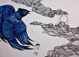 L'oiseau Bleu by emychaoschildren
