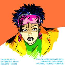 Arvin Bautista Sketches 2017 44/100: Jubilee by greasypigstudios