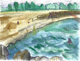 Horizontal Beach, paint first. by ergman