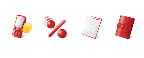 Sms Billing Icons by AnnaLitvinuk
