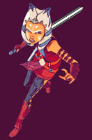 Ahsoka in battle by AhsokaTanogs