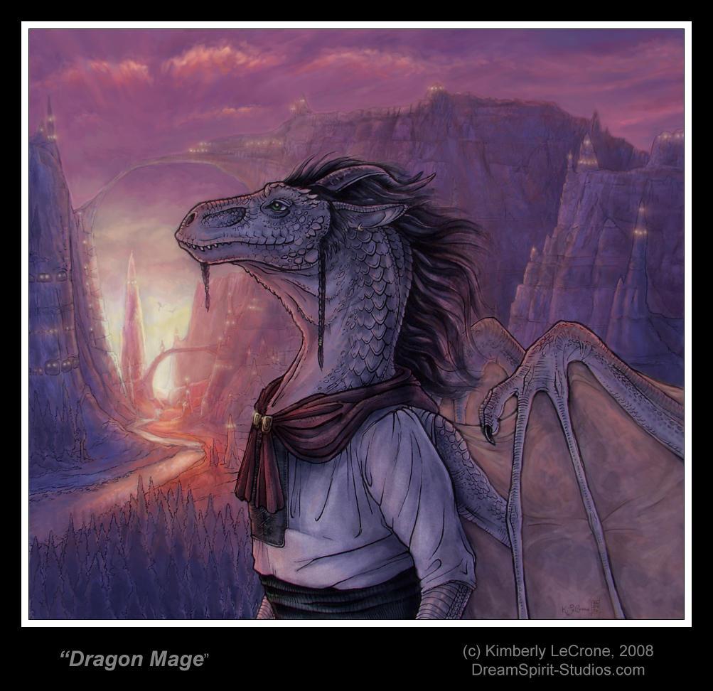 Dragon Mage by Dreamspirit